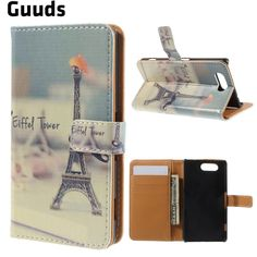 Eiffel Tower Leather Wallet Case for Sony Xperia Z3 Compact D5803 M55w FREE SHIPPING