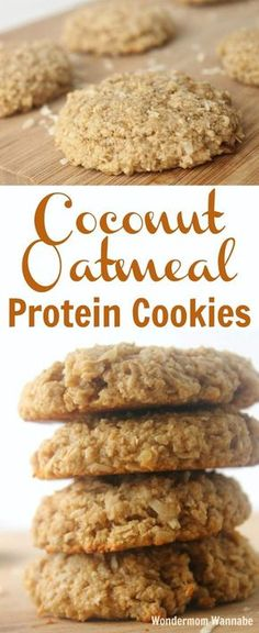 These Coconut Oatmeal Protein Cookies are not only some of the best-tasting cookies you'll ever eat, they're packed with protein and fiber to actually fill you up and give you energy for hours.
