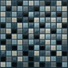 "Shaw Floors Glass Mosaic 12"" Tile Accent in Grey"