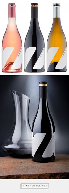Z wine labels by the Labelmaker on Bechance | #GraphicDesign #Packaging #Typography
