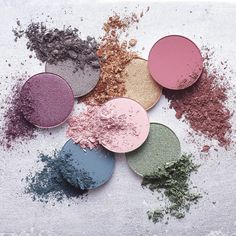 #MOODSTRUCK pressed eyeshadows come in four finishes and 25 fabulous colors to suit every mood. Which color are you feeling today?  Pictured Top to Bottom Left to Right: #MOODSTRUCK pressed shadows in Irrational Fanatical Fervent Credulous Hesitant Cynical and Inconceivable