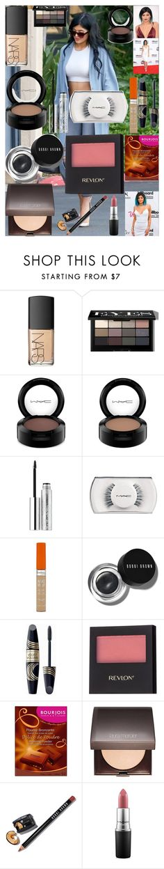 """Kylie Jenner Makeup Tutorial!"" by oroartye-1 on Polyvore featuring beauty, NARS Cosmetics, Bobbi Brown Cosmetics, MAC Cosmetics, Clinique, Rimmel, Max Factor, Revlon, Bourjois and Laura Mercier"