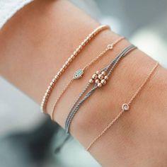 Armband Gold Damen Perle Feder Lotus Herz Neu