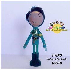 Fiyero - head of the guards from Wicked the musical peg doll from FaBi DaBi Doll - available now