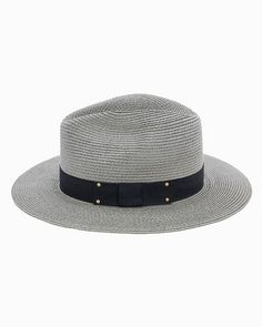 Wide Brim Hat with Ribbon.