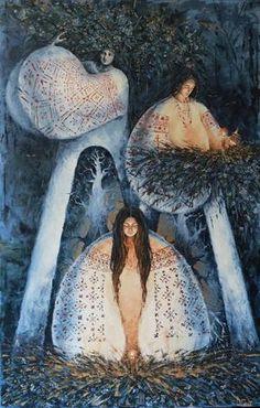 Holiday of Ivana Kupala postcard. Shop of postcards - Postal Ukraine Folk Art Flowers, Flower Art, Illustrations, Illustration Art, Ukrainian Art, Spirited Art, Free To Use Images, New Artists, Collage Art