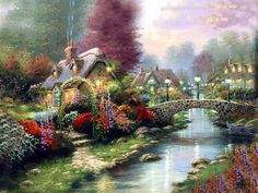 Thomas Kinkade | Thomas Kinkade Page Another Collection Of Kinkades Master Pieces ...