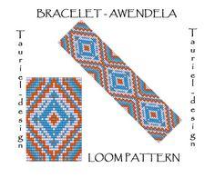 Loom pattern  native american inspired bracelet pattern by Tauriel, $2.99, #loom, #pattern, #ethnic