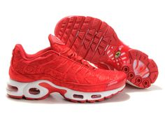 new style 08cef 5ed26 Nike Air Max TN Plus -nike tuned 1 chaussures pour Homme Rouge