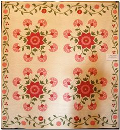 Martha Skelton: Four Block Carnation    Martha Skelton's quilts are in museum collections around the country. The American Quilting Society has named her one of the top 20 quilters in the United States!