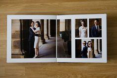 Queensberry Wedding Albums | Foley Photography פה הרווחים בין התמונות הם אחלה. וגם הסידור