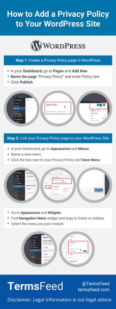 Here are easy step-by-step instructions for adding a Privacy Policy page to your WordPress site. Your site visitors will expect you to have one, even if you aren't legally required to. General Data Protection Regulation, New Names, Privacy Policy, Step By Step Instructions, Wordpress, Ads