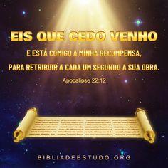 1 mensagem nova Revelation 22 12, Light Of Life, Word Of God, Matthew 25, Psalm 34, Life