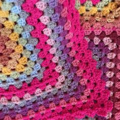 Another finish! Dolly Mixtures  is done! – Crochet Along With Me Main Colors, Colours, Dolly Mixture, It Is Finished, Craft Ideas, Blanket, Crochet, Fun, Crafts