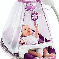 Fisher-Price Starlight Cradle nu0027 Swing  sc 1 st  Pinterest & Purple canopy baby swing at Babies R Us! | The Mommy Life ...