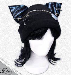 I really love this hat... Cat Kitty Fleece Hat Anime Cosplay Punk JRock by LokisaFashion