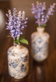 Blue Ceramic Vase $12 Lavender Bundle $8