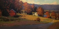 Vista from a Century Farm by Romona Youngquist Oil ~ 30 x 54