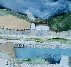 'Lakeside Retreat' by Louise O'Hara of DrawntoStitch https://www.facebook.com/DrawntoStitch