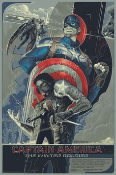Captain America - The Winter Solider by Rich Kelly #Mondo #Avengers #Marvel #Comics