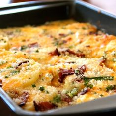 Fresno Potatoes- Cheesy potatoes are an Easter favorite and I love that this recipe is a little different – not quite a scalloped potato, not quite a casserole either, but something right in between. Oh, and there's bacon. Can't forget the bacon goodness. If you're looking for a new take on cheesy potatoes for your Easter spread, try this one.