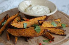Sweet Potato Wedges with Lemongrass Creme Fraiche 1 by Couscous & Consciousness, via Flickr