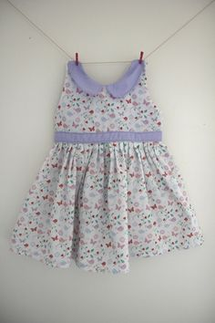 Pastel bird dress with a gorgeous bird by SecretSquirrel13 on Etsy