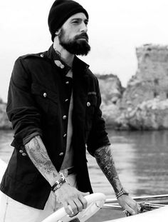 bearded man who can man a boat. maybe what i really want is a pirate?!?