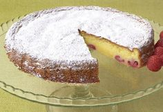 Torta tenerina bianca ai lamponi Single Layer Cakes, Torte Cake, Something Sweet, Biscotti, Cheesecake, Food And Drink, Cooking, Desserts, Recipes