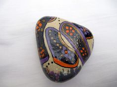 Dotted triangle stone  inspired hand painted by inspiredstone, €4.50