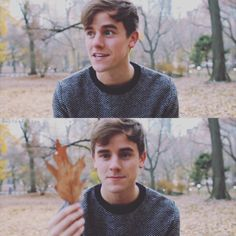 Connor Franta sitting in Central Park at NYC