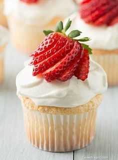 Strawberry Cupcake Pictures, Photos, and Images for Facebook, Tumblr, Pinterest, and Twitter