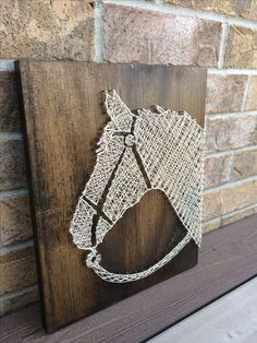 String Art - Rustic Horse Head Available as a made to order -on my Etsy shop NailedITCA. Check it out for other pieces that are in stock.
