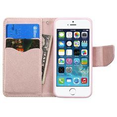 Apple iPhone 5/5S/SE Rose Gold Pattern/Rose Gold Liner MyJacket Wallet Case :: CellPhoneCases.com