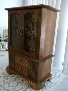 Large Musical Jewelry Box Jewelry Armoire by MyHouseVintage on Etsy https://www.etsy.com/listing/225689657/large-musical-jewelry-box-jewelry