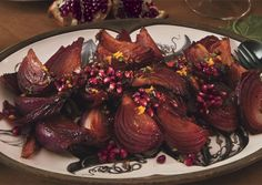 Roasted Red Onions with Pomegranate, Orange, and Parsley Gremolata - Bon Appétit