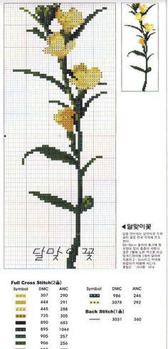 Flowers 5 of 9 Cross Stitch Fruit, Cross Stitch Bookmarks, Cross Stitch Borders, Cross Stitch Flowers, Cross Stitch Charts, Cross Stitch Designs, Cross Stitching, Cross Stitch Embroidery, Cross Stitch Patterns