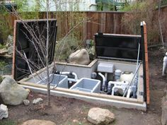 "pond bead filter in pit | pond koi bridge | The use of a ""filter pit"" can add to your filtration ..."