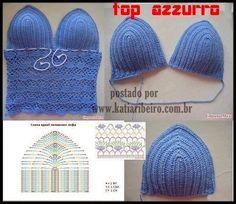 Cropped Crochet Top - Free Crochet Diagram - (katiaribeiro)