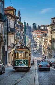 Portugal, Porto, The Next Tram by ElenaBobrova Portugal Destinations, Portugal Places To Visit, Portugal Travel, Places To See, Places Around The World, Travel Around The World, Monuments, Porto City, Bonde