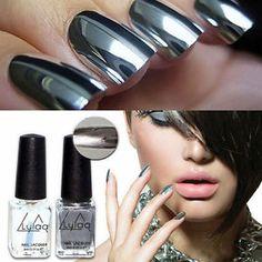 2pcs-Silver-Metal-Mirror-Effect-Metallic-Nail-Art-Polish-Varnish-amp-Base-Coat-DIY