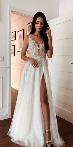 Peach Prom Dresses, Pretty Prom Dresses, Off White Dresses, Cute Wedding Dress, Grad Dresses, Dream Wedding Dresses, Bridal Dresses, Cute Dresses, Beautiful Dresses