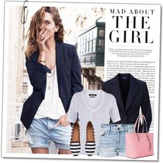 A fashion look from August 2016 by wishlist123 featuring Isabel Marant, Frame Denim, H&M, Stella & Dot, Madewell, Kershaw, GetTheLook, StreetStyle, michaelkors,...
