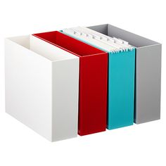 Poppin Hanging File Box Three Of These Will Fit In A Cube My Kallax Shelving For Pop Color Getting Rid Bulky 2 Drawer Filing Cabinet