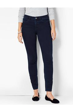 The Flawless Five-Pocket Jegging-Spindrift Wash - Talbots