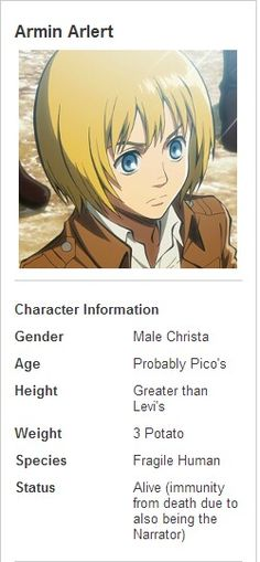 "lol ""Gender: Male Christa"""