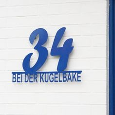 Hausnummer mit Straßenname /  Schilder nach Wunsch in verschiedenen RAL Farben pulverbeschichtet