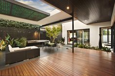 DDB DESIGN Exteriors & Pools - contemporary - patio - melbourne - by DDB Design Development & Building Outdoor Living Rooms, Outdoor Spaces, Indoor Outdoor, Small Balcony Design, Terrace Design, Alfresco Designs, Porches, Modern Architectural Styles, Architectural Digest