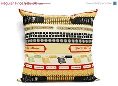 Typewriter decorative pillow cover 18x18 inch by LilachOren