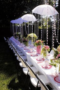 Garden tea party bridal shower. love this idea! (8)